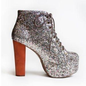 J. Campbell Platform Glitter Shoe